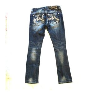 Miss Me Cuffed Straight Jeans